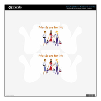 Friends are for life decal for PS3 controller