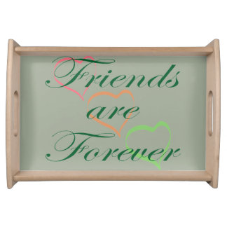 Friends are Forever Hearts Serving Tray