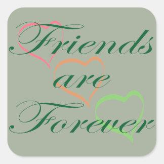 Friends are Forever Hearts Square Sticker