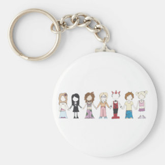 Friends are Friends Key Ring Basic Round Button Keychain