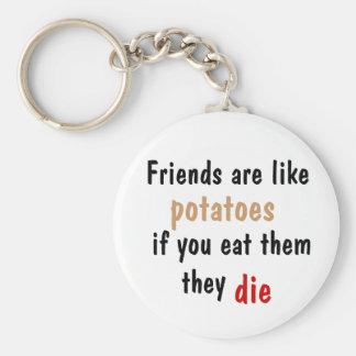 Friends are Like Potatoes Keychain