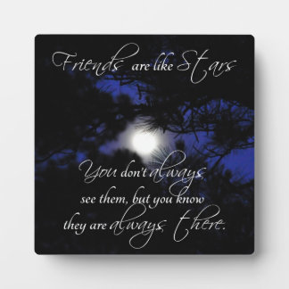 """""""Friends are Like Stars"""" Lovely Friendship Gift Plaque"""