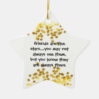 friends are like stars star ornament