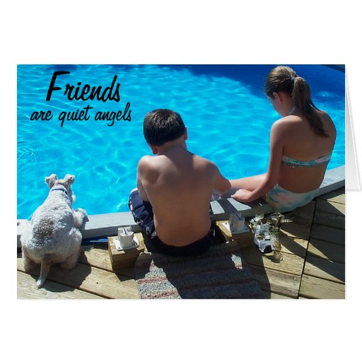 Friends Are Quiet Angels Greeting Card