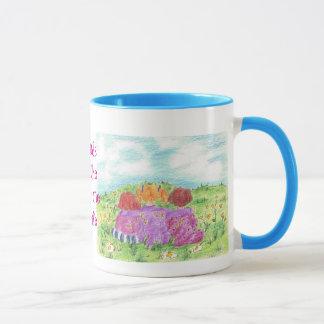 Friends Are The Sunshine Of Life Flower Meadow Mug