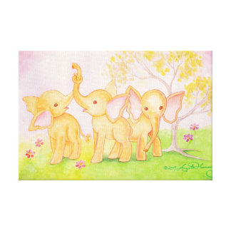 Friends Are Wonderful--Elephants Know! Canvas Print