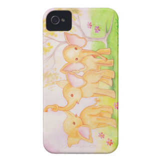 Friends Are Wonderful--Elephants Know! (Detail) iPhone 4 Case-Mate Case