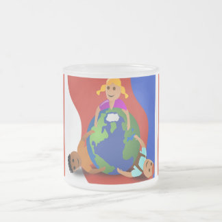 Friends Around the World - Frosted Glass Coffee Mug