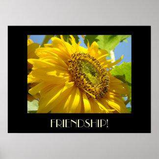 FRIENDS Art Gifts FRIENSHIP Sun Flower Art Prints Print