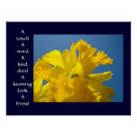 Friends art prints Healing Touch Spring Daffodils Poster