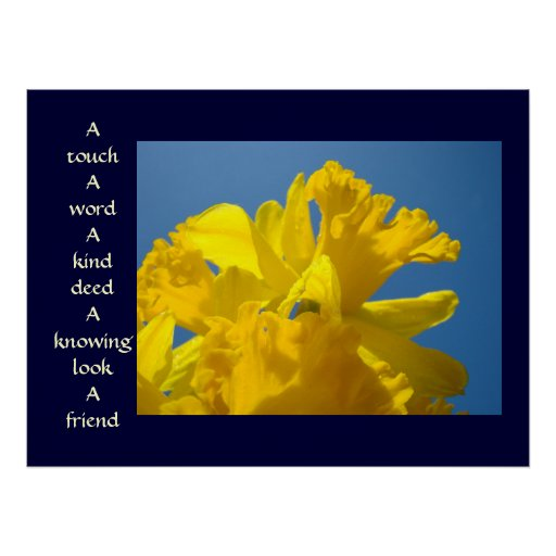 Friends art prints Healing Touch Spring Daffodils Print