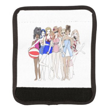 Beach Themed Friends at a Beach Party Luggage Handle Wrap