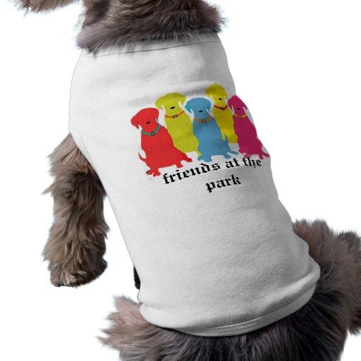 friends at the park dog tee shirt