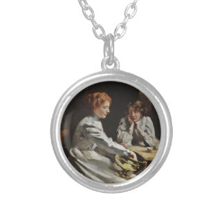 Friends at the Table Silver Plated Necklace