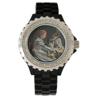 Friends at the Table Wrist Watch