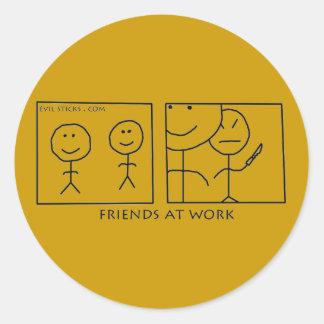 Friends At Work Sticker