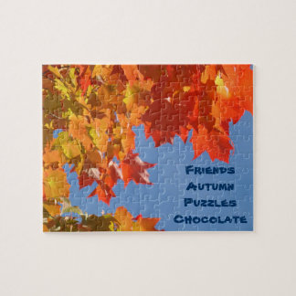 Friends Autumn Puzzles Chocolate puzzles gifts