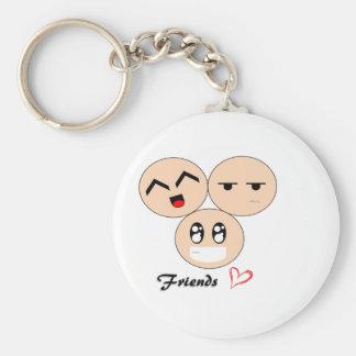 Friends Basic Round Button Keychain