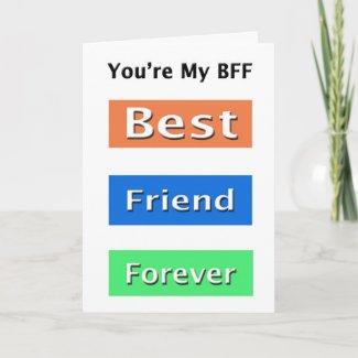 Friends Best Friend Forever Card
