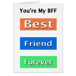 Friends Best Friend Forever Greeting Card