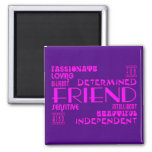 Friends Birthday Parties & Christmas : Qualities 2 Inch Square Magnet