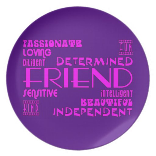 Friends Birthday Parties & Christmas : Qualities Party Plates