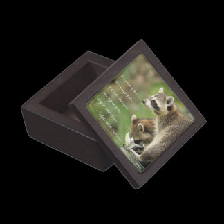Friends & Blessings Emerson Quote Raccoons Custom Gift Box