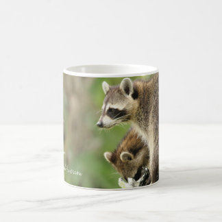 Friends & Blessings Friendship Quote Raccoons Coffee Mug