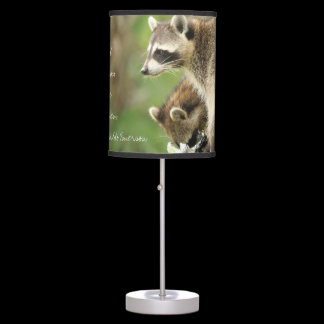 Friends & Blessings Friendship Quote Raccoons Desk Lamp