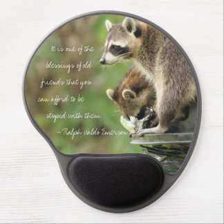 Friends & Blessings Friendship Quote Raccoons Gel Mouse Pad