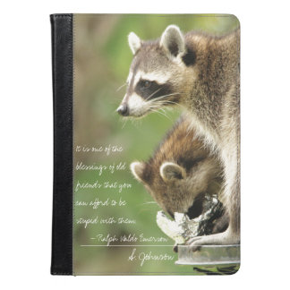 Friends & Blessings Friendship Quote Raccoons iPad Air Case