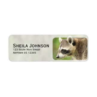 Friends & Blessings Friendship Quote Raccoons Label