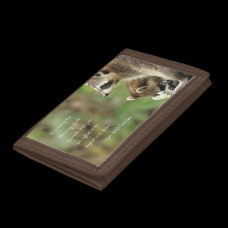 Friends & Blessings Friendship Quote Raccoons Pers Tri-fold Wallets