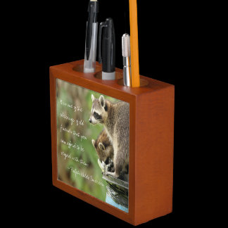 Friends & Blessings Friendship Raccoon Pencil Cup Desk Organizer