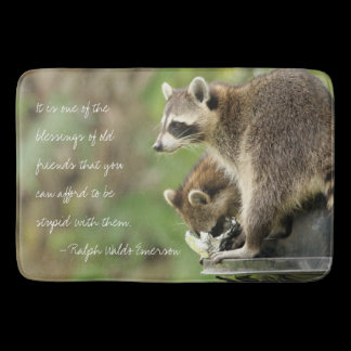 Friends & Blessings Friendship Raccoons Kitchen Bathroom Mat
