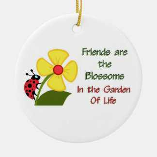 Friends Blossom Ceramic Ornament