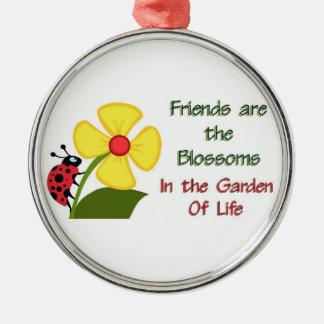 Friends Blossom Metal Ornament