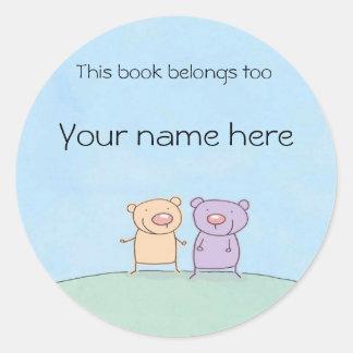 Friends Book Plate Sticker