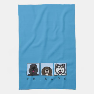 Friends: Bouvier, Beagle & Alaskan Malamute Kitchen Towel