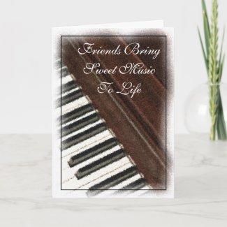 Friends Bring Music Card card