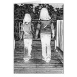 Friends by choice greeting card