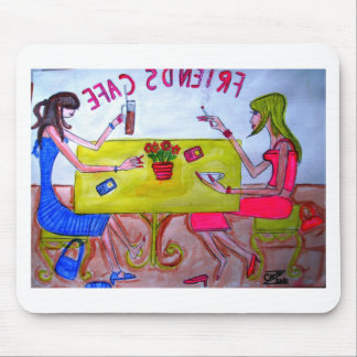 Friends Cafe Mouse Pad