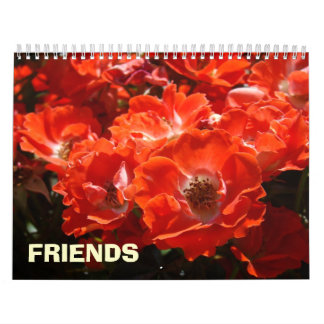 FRIENDS Calendar gifts Holiday Rose Roses