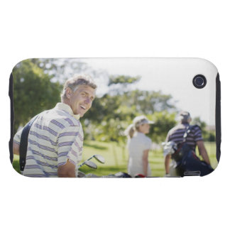 Friends carrying golf bags iPhone 3 tough cover