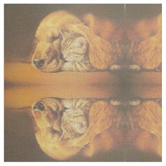 Friends Cat-Dog Hakuna Matata Gift Relation Fabric