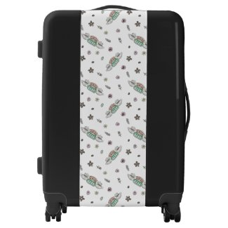 FRIENDS™ | Central Perk Coffee Watercolor Pattern Luggage