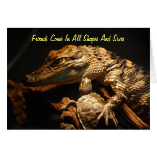 """""""Friends Come In All Shapes And Sizes"""" Card"""