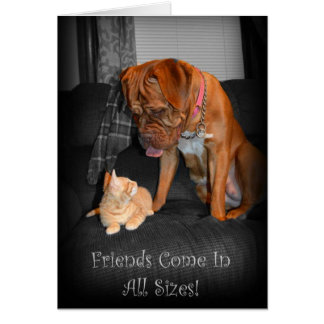 Friends Come in All Sizes! Greeting Card