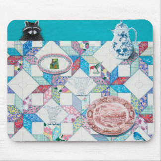 Friends Come to Tea Mouse Pad
