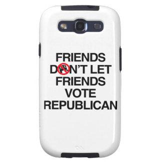 FRIENDS DON T LET FRIENDS VOTE REPUBLICAN png Galaxy S3 Covers